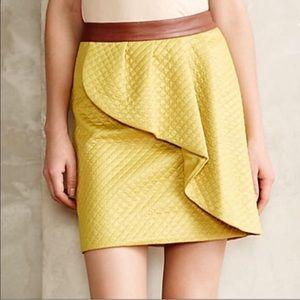 Anthropologie-HD in Paris Lemon Petal Mini Skirt